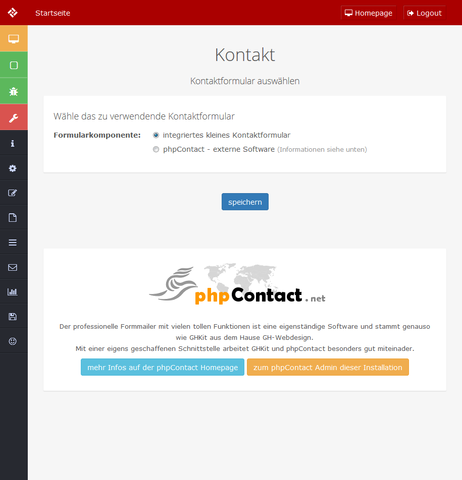 phpContact installiert