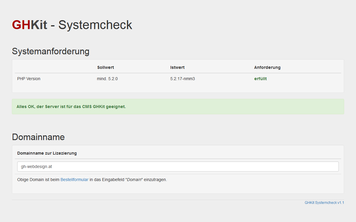 Screenshot Tool Systemcheck