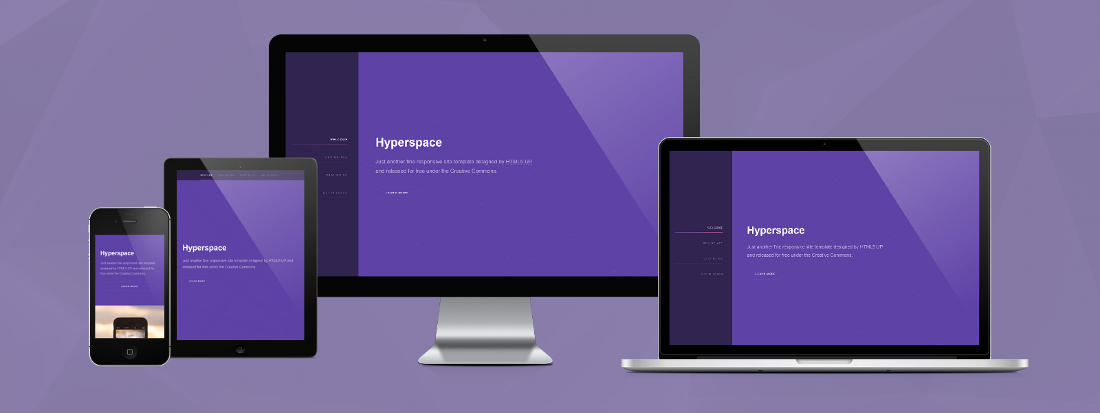 Responsive Design - Template Hyperspace CP1